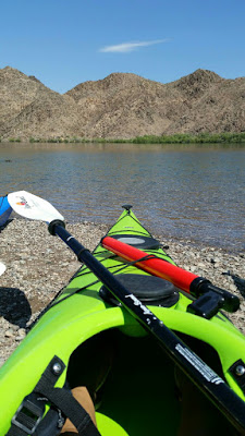 Also on the front of each kayak was a water gun strapped onto the bungee cords.